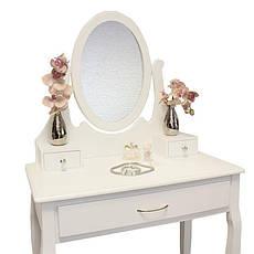 Туалетный стол Helena 75 см с табуретом и зеркалом, фото 2