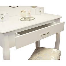 Туалетний стіл Helena 75 см з табуретом і дзеркалом, фото 2