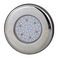 Светодиодный прожектор для бассейна AquaViva  (5Вт) RGB LED203 54LED, стальной