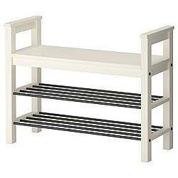 IKEA HEMNES (002.438.00) Лава с местом для обуви, белый