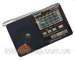 🔝 Радиоприемник c USB + Micro SD и аккумулятором, Golon RX-2277 Чёрный, с MP3 плеером от флешки   🎁%🚚