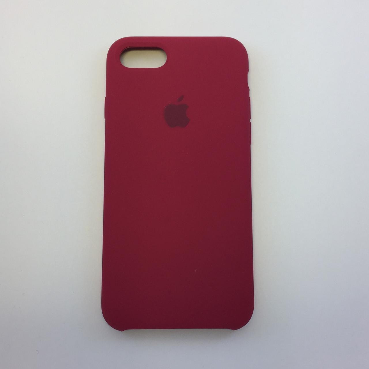 Силиконовый чехол для iPhone 8 Plus, - «темно-розовый» - copy original