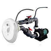 Противоток для бассейна Emaux AFS40KIT с цветной LED подсветкой, 75м3\ч, 380V, встраиваемый под лайнер/бетон