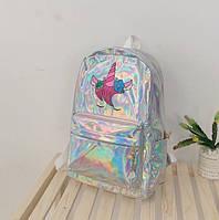 Голографический рюкзак с единорогом(unicorn).