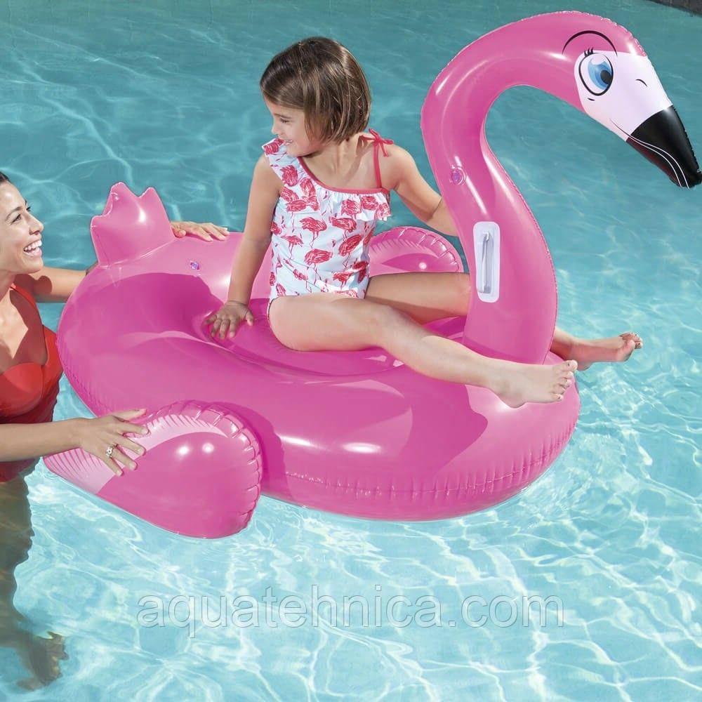 Плавательный Фламинго надувной круг Bestway 41099 (145х121)