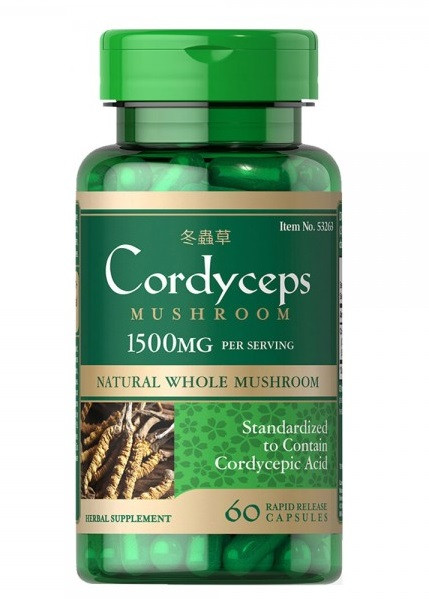 Кордицепс Puritan's Pride - Cordyceps 750 мг (60 капсул)