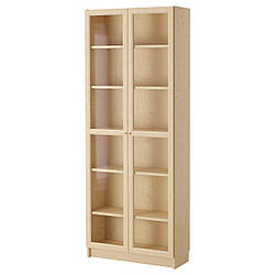 IKEA BILLY / OXBERG (790.234.09) Шкаф/Сервант, белый