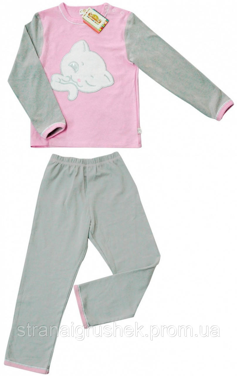 2736972819fa Детская пижама Котик (серо-розовая), Тигрес (104 р) (200301104-4)