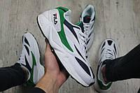 Мужские кроссовки Fila Venom (white/green), кроссовки Fila Venom, мужские белые кроссовки фила веном, фото 1