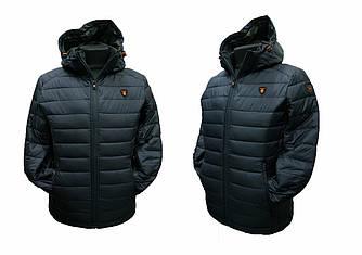 Куртка мужская Tiger Force темно-синего цвета с капюшоном модель 50217