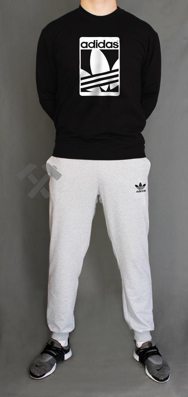 Спортивный костюм зимний Adidas, Адидас, серый, черный (в стиле)