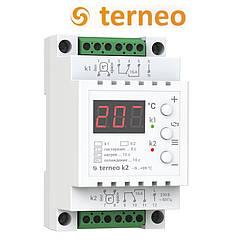 Двухканальный терморегулятор Terneo k2 (на DIN-рейку) DS Electronics