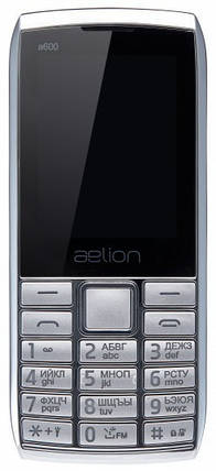 Телефон AELion A600 Metal/Silver Гарантия 12 месяцев, фото 2