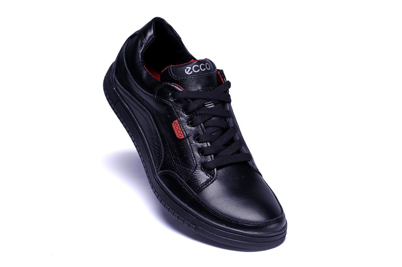 e8d9d2e7 Мужские весенние кроссовки Ecco Wayfly Black натуральная кожа (реплика)