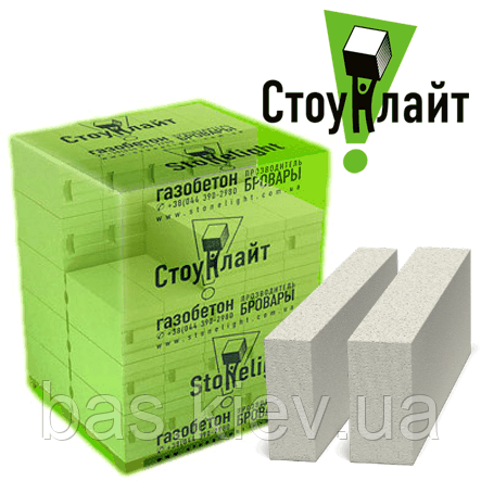 СТОУНЛАЙТ ГАЗОБЛОК 300/200/600, ПЛОТНОСТЬ D 500(кг/м3),