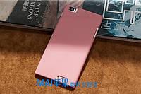Пластиковый чехол для Lenovo K900 розовый