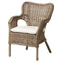 IKEA BYHOLMA (098.968.91) Кресло, серый, натуральный Laila