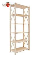 Стеллаж деревянный 6 полок ВхШхГ: 1910х780х400мм, стеллаж торговый, стеллаж в магазин, стеллаж для дома