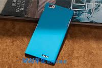 Пластиковый чехол для Lenovo K900 голубой
