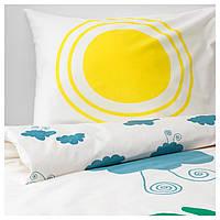 IKEA DJUNGELSKOG (203.937.18) Комплект постельного белья, животных, облаков