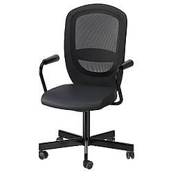 IKEA FLINTAN / NOMINELL (292.081.94) Рабочий стул с подлокотниками, черный.