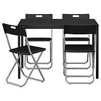 IKEA TARENDO / GUNDE (890.106.99) Стол и 4 стула, черный