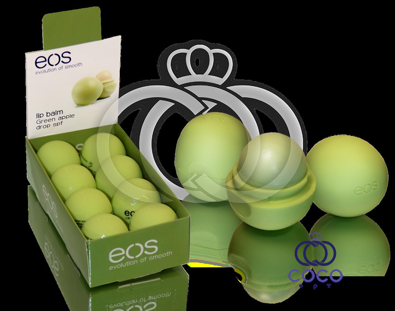 Корейский бальзам для губ EOS Зеленое Яблоко