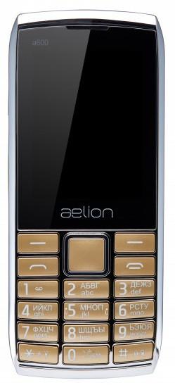 Телефон AELion A600 Metal/Gold Гарантия 12 месяцев