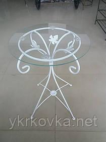 Журнальный столик белый высокий