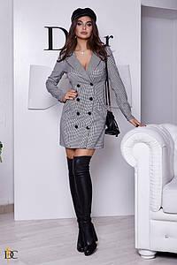 Короткое двубортное платье-пиджак