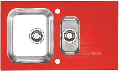 Кухонна мийка Alveus GLASSIX 20 RED