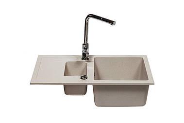 Кухонна мийка бежева 500х780