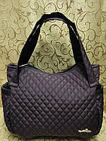 Женские сумка стеганная (шоколад) 28*43*18