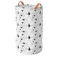 IKEA PLUMSA (803.635.77) Сумка для белья, белая, черная