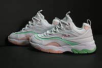 Женские кроссовки Fila Ray (white/pink), кроссовки Fila Ray, женские белые кроссовки фила рей, фото 1