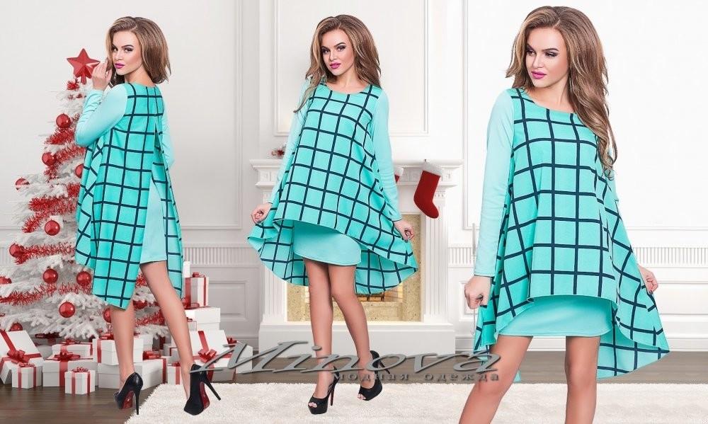 """Изысканное женское платье ткань """"Дайвинг"""" 42 размер норма"""