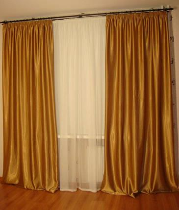 Шторы портьерные Шанзелизе темное золото 200*265= 2 шт, фото 2