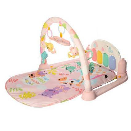Развивающий коврик-пианино для малышей (РОЗОВЫЙ) арт. 681-682