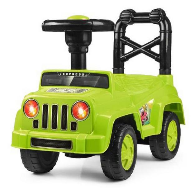 Детская каталка толокар автомобиль.Машинка каталка зеленый.Детская игрушка машина каталка.