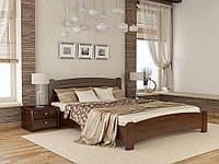 Кровать двуспальная Венеция Люкс деревянная из бука