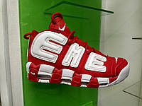 Женские кроссовки Nike Air More uptempo red & white