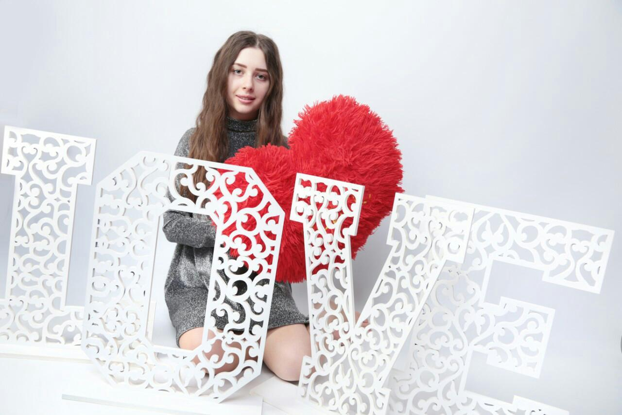 Ажурные буквы LOVE, ажурные цифры, буквы на свадьбу