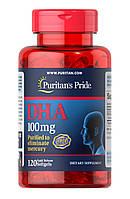 DHA Омега Puritan`s Pride - DHA 100 мг (120 капсул)