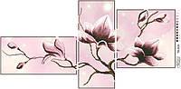 Набор с бисером схема для вышивки бисером Барвиста Вышиванка Триптих «Магнолия» 85х43 ТК019
