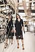Женское платье-двойка Черный, фото 3