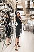 Женское платье-двойка Черный, фото 4