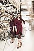 Женское платье-двойка Бордовый, фото 5