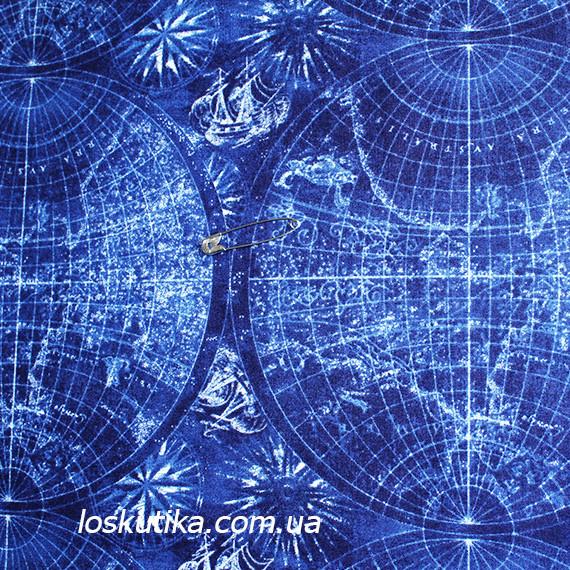 43007 Мир путешественника. Ткань с принтом на тему путешествие. Подойдет для шитья и декора.
