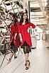 Женское платье-двойка Красный, фото 5