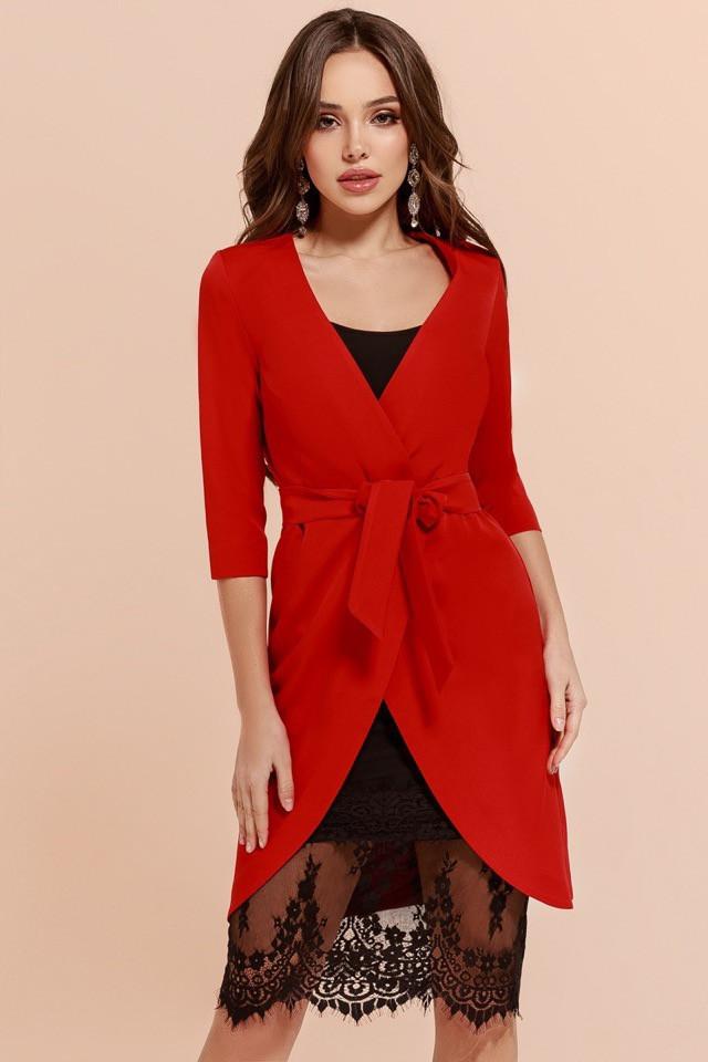 Женское платье-двойка Красный